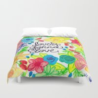 lovers Duvet Covers featuring lovers by lindsey ann