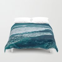 waves Duvet Covers featuring Waves  by StayWild