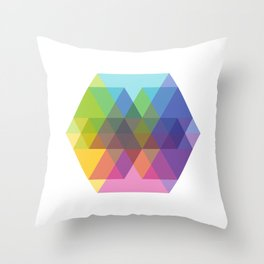Fig. 040 Hexagon Shapes Throw Pillow