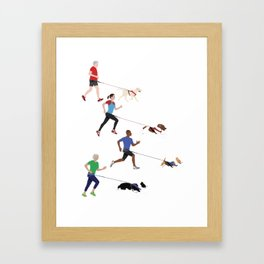 Canicross Quartet Framed Art Print
