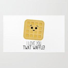 I Love You Twat Waffle Rug