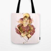 haikyuu Tote Bags featuring Haikyuu!- Kozume Kenma Print  by Moody Pink