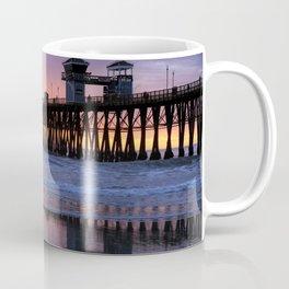 Oceanside Sunset Pier Coffee Mug