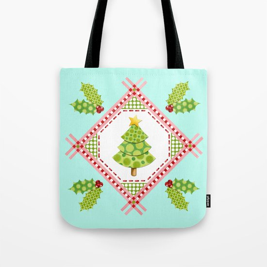 Holiday Polka Dots Tote Bag
