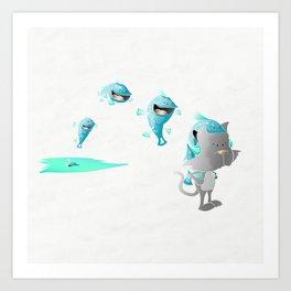 Cuddles and Blitz Art Print