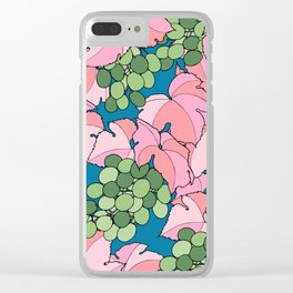 Pink Grapes Clear iPhone Case