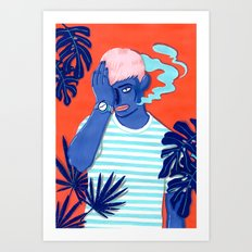 MEET ME AT THE POOL 1 Art Print
