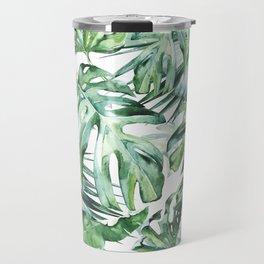 Tropical Palm Leaves Travel Mug