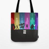 big hero 6 Tote Bags featuring The Big Hero 6 by Travis Love