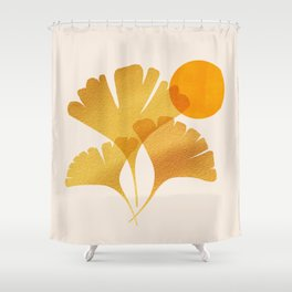 Abstraction_SUN_Ginkgo_Minimalism_001 Shower Curtain