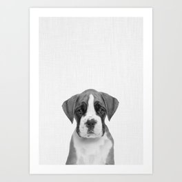 German Boxer Puppy Art Print