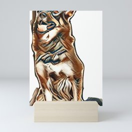 I love my dog Mini Art Print