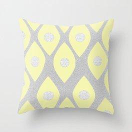 Eye Pattern Yellow Throw Pillow