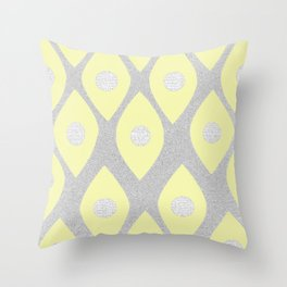 Eye Pattern Yellow Throw Pillow