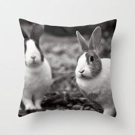Bunny Buddies Throw Pillow