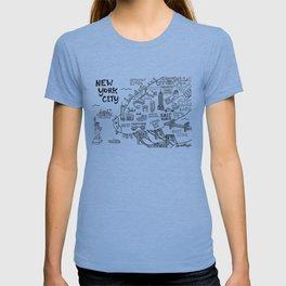 New York City Map T-shirt