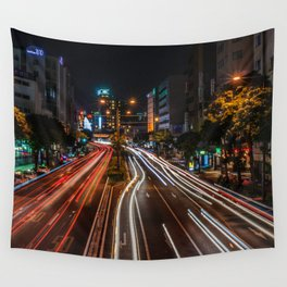 Naha Traffic in Color Wall Tapestry