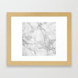 Nordic White Marble Framed Art Print