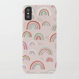 Colorful rainbows magic dreams kawaii sky kids iPhone Case