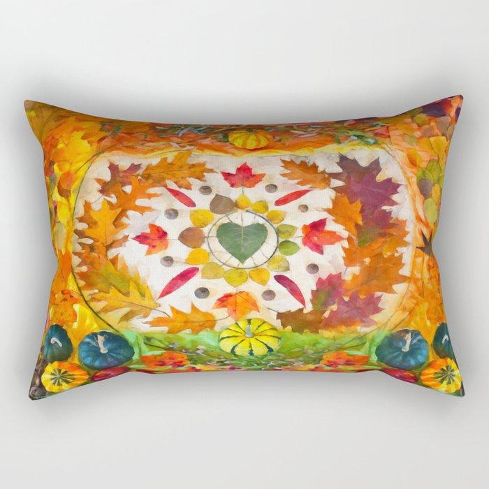 Autumn mandala Rectangular Pillow