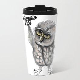 Fidget spinner owl Travel Mug