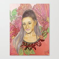ariana grande Canvas Prints featuring Ariana II by Share_Shop