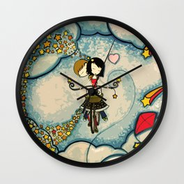 Love on a Bike Wall Clock
