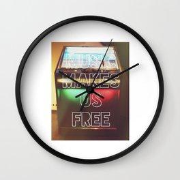 Music Makes Us Free Wall Clock