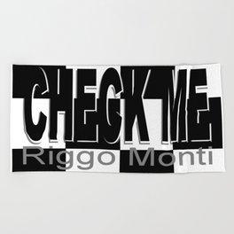 Riggo Monti Design #16 - Check Me Beach Towel
