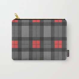 Red and Grey Tartan Carry-All Pouch