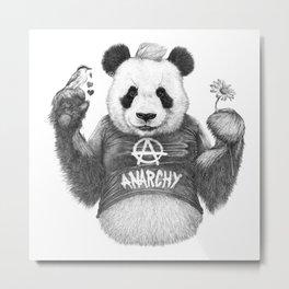 Punk Panda Metal Print