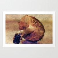 mushroom Art Prints featuring Mushroom by LoRo  Art & Pictures