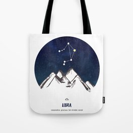 Astrology Libra Zodiac Horoscope Constellation Star Sign Watercolor Poster Wall Art Tote Bag