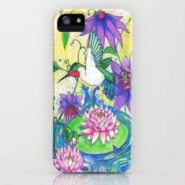 Lotus Hummingbird  iPhone Case