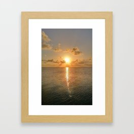 San Pedro Sunset Framed Art Print