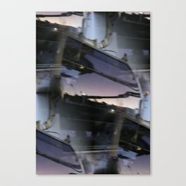 Reflections on brand new gondola windows Canvas Print