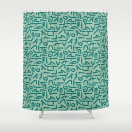 Asanas Shower Curtain