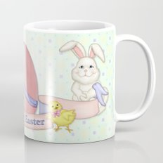 White Rabbit and Easter Friends Mug
