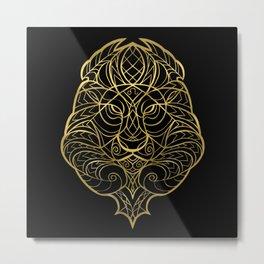 Leo Gold Metal Print