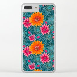 Zing with Zinnia Clear iPhone Case