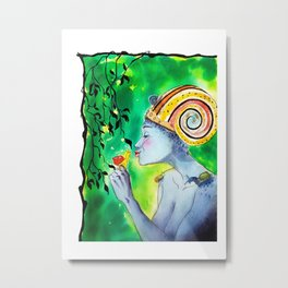 Snail queen colored Metal Print