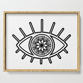 Mandala Evil Eye Serving Tray