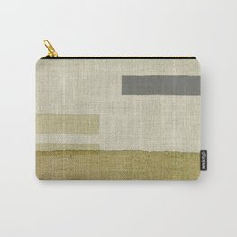 """""""Burlap Texture Natural Shades"""" Carry-All Pouch"""