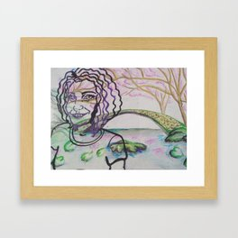 Dreams of creation Framed Art Print