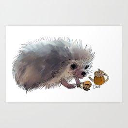 Acorn Tea Art Print