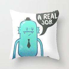 Job Hunt Throw Pillow