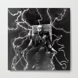 Frankenstein Electric Metal Print
