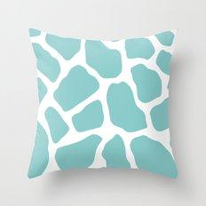 Sky Blue Giraffe Print Throw Pillow
