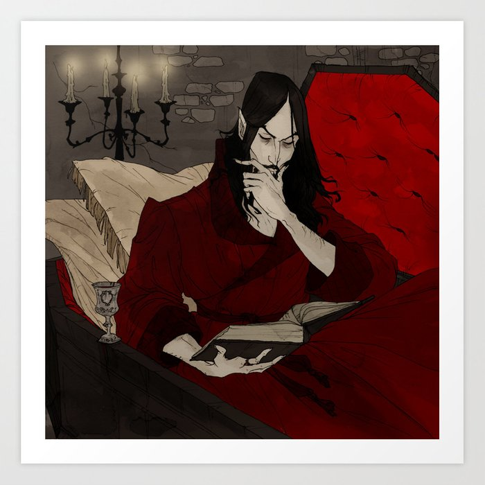 Dracula Reading Kunstdrucke