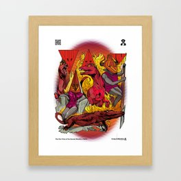 The Vulcaen Fire Tribe of The Obsidian Flame Framed Art Print